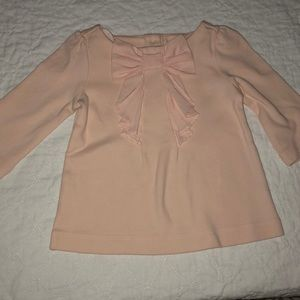 Janie and Jack Pink Shirt with Bow